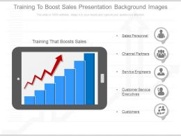 Use Training To Boost Sales Presentation Background Images