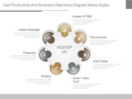 Use User Productivity And Business Objectives Diagram Slides Styles