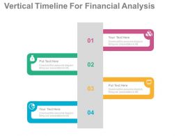 use Vertical Timeline For Financial Analysis Flat Powerpoint Design