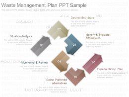 Use Waste Management Plan Ppt Sample