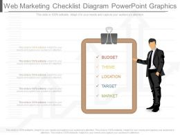 Use Web Marketing Checklist Diagram Powerpoint Graphics