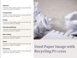 Used Paper Image With Recycling Process