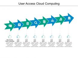 User Access Cloud Computing Ppt Powerpoint Presentation Ideas Graphics Example Cpb
