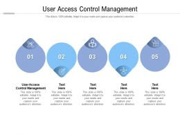 User Access Control Management Ppt Powerpoint Presentation Icon File Cpb