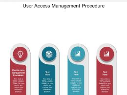 User Access Management Procedure Ppt Powerpoint Presentation Ideas Visuals Cpb
