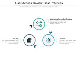 User Access Review Practices Ppt Powerpoint Presentation Pictures Layouts Cpb