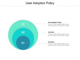 User Adoption Policy Ppt Powerpoint Presentation Gallery Rules Cpb