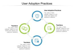 User Adoption Practices Ppt Powerpoint Presentation Professional Icons Cpb