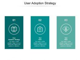 User Adoption Strategy Ppt Powerpoint Presentation Summary Design Inspiration Cpb