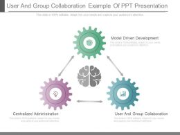 User And Group Collaboration Example Of Ppt Presentation
