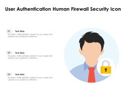 User Authentication Human Firewall Security Icon