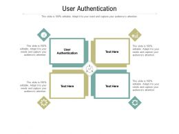 User Authentication Ppt Powerpoint Presentation Model Gridlines Cpb