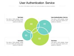 User Authentication Service Ppt Powerpoint Presentation Inspiration Background Designs Cpb
