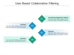User Based Collaborative Filtering Ppt Powerpoint Presentation Gallery Cpb