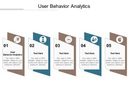 User Behavior Analytics Ppt Powerpoint Presentation File Graphic Images Cpb