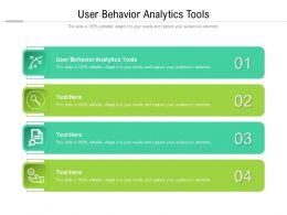 User Behavior Analytics Tools Ppt Powerpoint Presentation Graphics Cpb
