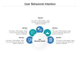 User Behavioral Intention Ppt Powerpoint Presentation Pictures Elements Cpb