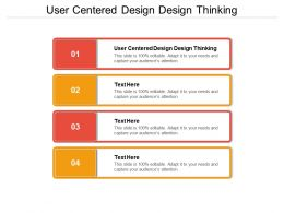 User Centered Design Design Thinking Ppt Powerpoint Presentation Gallery Background Images Cpb