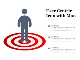 User Centric Icon With Man