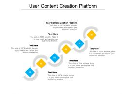 User Content Creation Platform Ppt Powerpoint Presentation Layouts Gallery Cpb