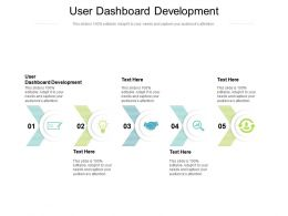 User Dashboard Development Ppt Powerpoint Presentation File Infographic Template Cpb