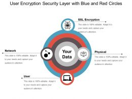User Encryption Security Layer With Blue And Red Circles