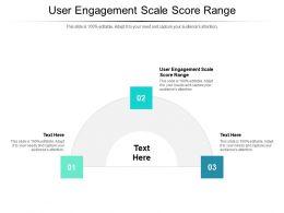 User Engagement Scale Score Range Ppt Powerpoint Presentation Model Deck Cpb