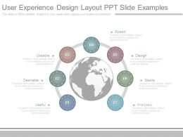 User Experience Design Layout Ppt Slide Examples