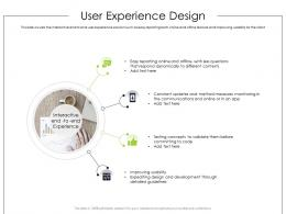User Experience Design Product Requirement Document Ppt Clipart