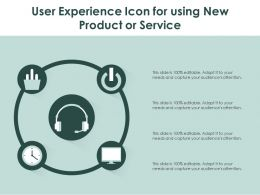 User Experience Icon For Using New Product Or Service