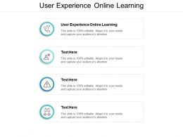 User Experience Online Learning Ppt Powerpoint Presentation File Styles Cpb