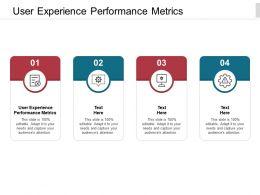 User Experience Performance Metrics Ppt Powerpoint Presentation Summary Gallery Cpb