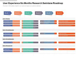 User Experience Six Months Research Swimlane Roadmap
