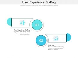 User Experience Staffing Ppt Powerpoint Presentation Show Outline Cpb