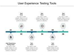 User Experience Testing Tools Ppt Powerpoint Presentation Icon Visuals Cpb