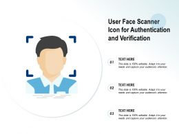 User Face Scanner Icon For Authentication And Verification