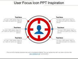 User Focus Icon Ppt Inspiration