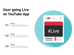 User Going Live On Youtube App
