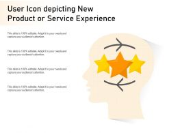 User Icon Depicting New Product Or Service Experience
