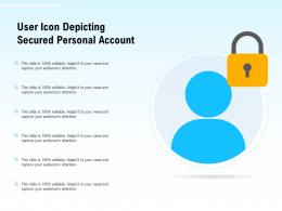 User Icon Depicting Secured Personal Account