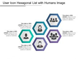 User Icon Hexagonal List With Humans Image