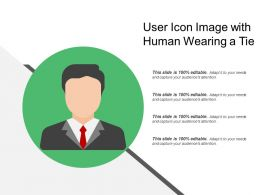 User Icon Image With Human Wearing A Tie
