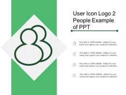 User Icon Logo 2 People Example Of Ppt