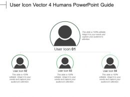 User Icon Vector 4 Humans Powerpoint Guide