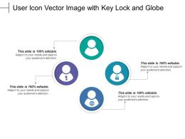User Icon Vector Image With Key Lock And Globe
