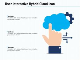 User Interactive Hybrid Cloud Icon