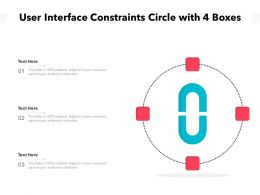 User Interface Constraints Circle With 4 Boxes