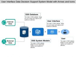 User Interface Data Decision Support System Model With Arrows And Icons