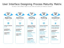 User Interface Designing Process Maturity Matrix