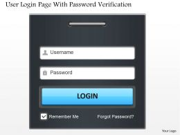 User Login Page With Password Verification Ppt Slides